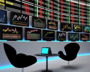 stock exchange rates tv screens